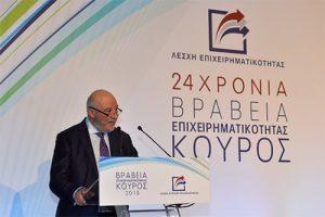 Ομιλία Προέδρου Λέσχης Επιχειρηματικότητας στην απονομή των βραβείων Κούρος 2018